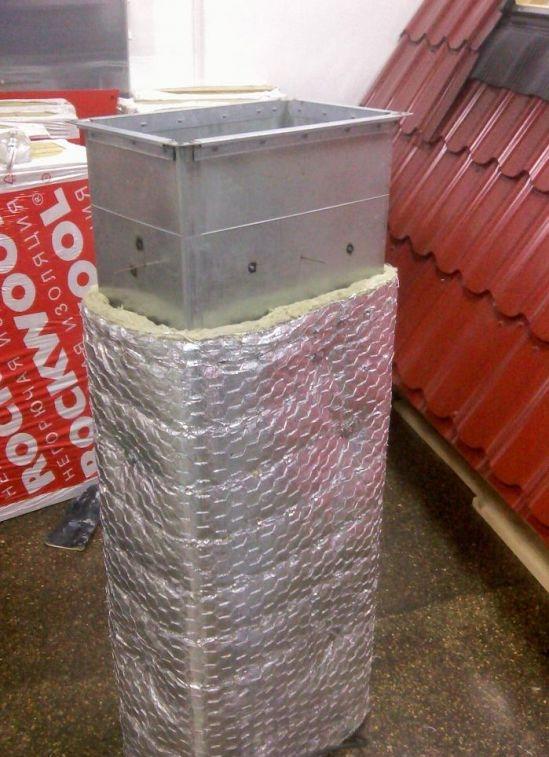 фото огнезащита воздуховода Роквул ALU1 Wired mat ЭнергоИзоляция