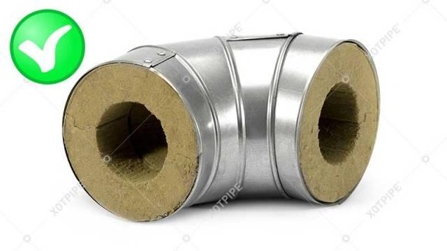 фото отвод оцинкованный для защиты теплоизоляции трубы