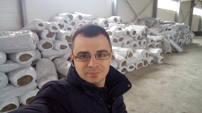 Теплоизоляция теплотрассы матами прошивными минераловатными МП-75 ГОСТ 21880-2011 на высоте г.Рязань